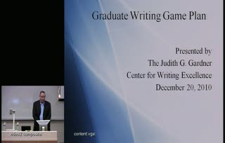 Graduate Writing Game Plan