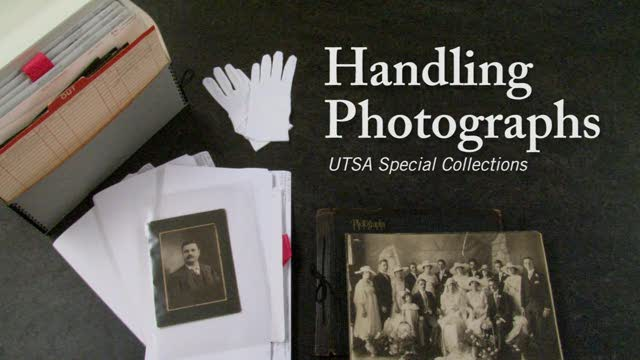 Special Collections Library - Handling Photographs