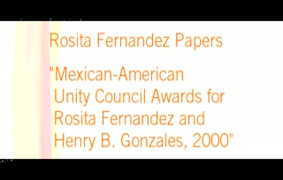 Mexican-American Unity Council Awards for Rosita Fernandez and Henry B. Glz